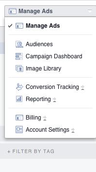 conversion tag facebook dans le power editor